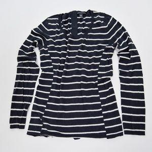 Banana Republic Navy White Striped Sweater S